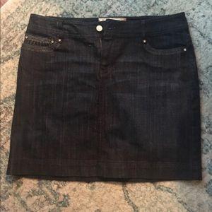 White House Black Mkt denim skirt 6